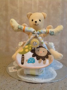 yellow teddy on tricycle front